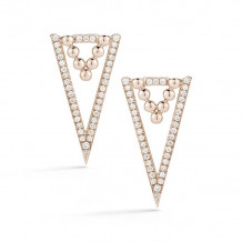 Dana Rebecca 14k Rose Gold Poppy Rae Diamond Drop Earrings - E2407