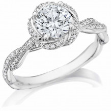 Bride2Be Platinum Twisted Engagement Ring - Z1459RR6.5P