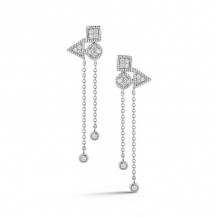 Dana Rebecca 14k White Gold Emily Sarah Drop Earrings - E2834