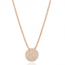 Phillips House 14k Rose Gold Diamond Necklace - N20013PDR-JB