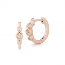 Dana Rebecca 14k Rose Gold Lulu Jack Huggies Earrings
