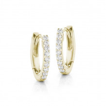 Dana Rebecca 14k Yellow Gold DRD Diamond Huggies Earrings