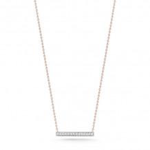 Dana Rebecca 14k Yellow Gold Sylvie Rose Medium Bar Necklace