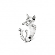 Cat Fever Sterling Silver Siamese Hug Ring - CFANE00003