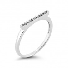 Dana Rebecca 14k White Gold Sylvie Rose Bar Ring - R292