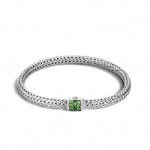 John Hardy Classic Chain Collection Extra-Small Tsavorite Bracelet - BBS96002TSXL