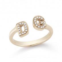 Dana Rebecca 14k Rose Gold Initial Diamond Ring - R389