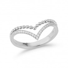 Dana Rebecca 14k White Gold Poppy Rae Stacking Ring