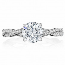 Bride2Be Platinum Twisted Engagement Ring - Z1419R7.0P