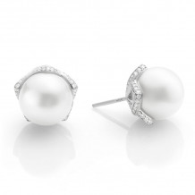 Mikimoto 18k White Gold Classic-Embrace Pearl Earrings - MEA10123NDXW