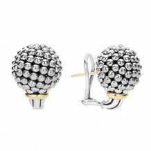 Lagos 18k Yellow Gold & Sterling Silver Caviar Forever Caviar Earrings - 01-81485-M