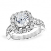 Allison Kaufman 14k White Gold Diamond Semi-Mount Engagement Ring - K217-28547_W-