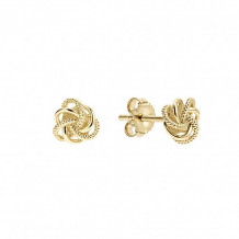 Lagos 18k Yellow Gold Love Knot Stud Earrings
