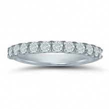 Lieberfarb 14k White Gold Anniversary Wedding Band - LD77765