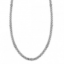 Lagos Sterling Silver Signature Caviar Beaded Necklace - 04-80740