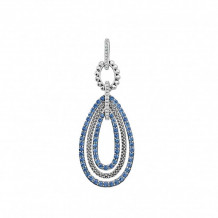 Lagos Sterling Silver Signature Color Sapphire Teardrop Pendant