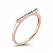 Dana Rebecca 14k Rose Gold Sylvie Rose Bar Ring - R294