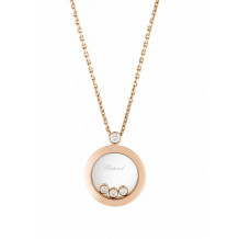 Chopard Rose Gold Happy Diamonds Pendant - 17235
