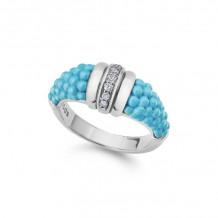 Lagos Silver Diamond Ring - 02-80640-CT7