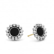 Lagos Silver Stud Earrings - 01-81757-OX