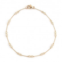 Dana Rebecca 14k Yellow Gold Lulu Jack Station Diamond Bracelet - B567