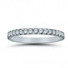 Lieberfarb 14k White Gold Eternity Wedding Band - LD71835