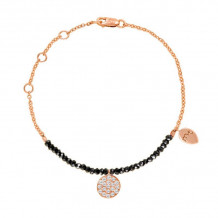 Meira T 14k Rose Gold Spinelle and Pave Diamond Bracelet - 1B3664