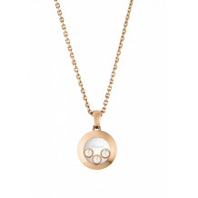 Chopard Good Happy Curves Rose Gold Diamond Pendant