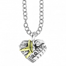 Lagos 18k Gold & Sterling Silver Hearts of LAGOS Heart of New York Pendant