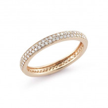 Dana Rebecca 14k Rose Gold Melissa Louise Thin Eternity Band - R332