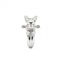 Cat Fever Sterling Silver Sphynx Hug Ring - CFANE00004