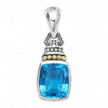 Lagos 18k Gold & Sterling Silver Caviar Color Gemstone Pendant - 07-80981
