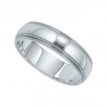 Lieberfarb 14k White Gold Men's Wedding Band - M71186