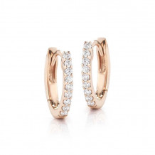 Dana Rebecca 14k Rose Gold DRD Diamond Huggies Earrings - E1142
