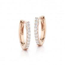 Dana Rebecca 14k Rose Gold DRD Diamond Huggies Earrings - E1142
