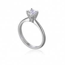 Lieberfarb Platinum Solitaire Engagement Ring -ED71001