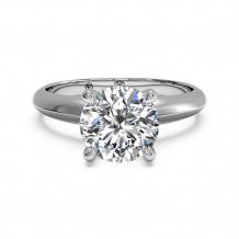 Ritani Solitaire Diamond Knife-Edge Engagement Ring with Surprise Diamonds - 1R7264
