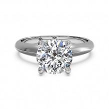 Ritani Solitaire Diamond Knife-Edge Engagement Ring with Surprise Diamonds - 1R7264