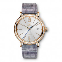 IWC 18k Rose Gold Portofino Diamond Women's Watch