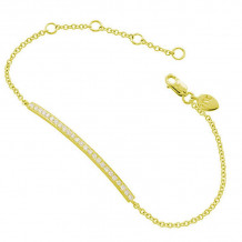Meira T 14k Yellow Gold Diamond Bar Chain Bracelet - 1B3695Y