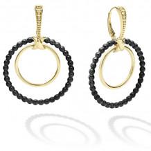 Lagos Caviar 18k Yellow Gold Hoop Earrings - 01-11078-00