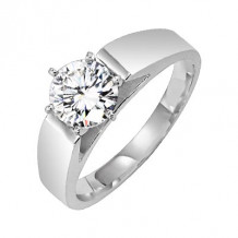 Lieberfarb Platinum Designs Solitaire Engagement Ring - E70726