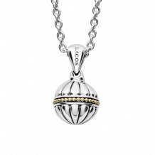 Lagos 18k Gold & Sterling Silver Caviar Talisman Ball Pendant Necklace - 04-81064-32
