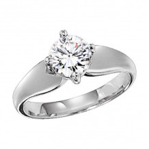 Lieberfarb Platinum Solitaire Engagement Ring - ED70827