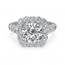 Ritani Masterwork Cushion Halo Diamond Band Engagement Ring - 1R2817