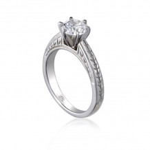 Lieberfarb Platinum Solitaire Engagement Ring - ED71007
