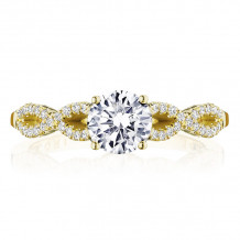 Tacori 14k Yellow Gold Coastal Crescent Criss Cross Diamond Engagement Ring - P105RD6FY