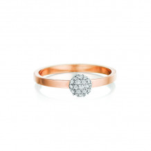 Phillips House 14k Rose Gold Affair Stackable Diamond Ring - R0102DR