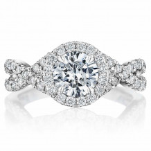 Bride2Be Platinum Criss Cross Engagement Ring - Z1038RR6.5P