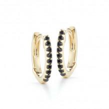 Dana Rebecca 14k Yellow Gold DRD Black Diamond Huggies Earrings - E2142
